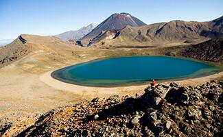 Sources et cratères dans le Parc National Tongariro