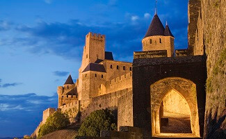Carcassonne, in wide angle