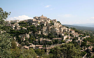 The village of Gordes and Sénanque Abbey