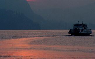 En bateau sur le Lac Majeur