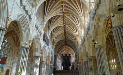 Attend a performance of the evening choir at Exeter Cathedral