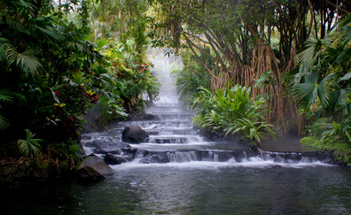 Bathe in the Arenal Volcano hot springs