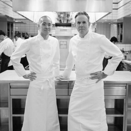 Corey Chow and Thomas Keller
