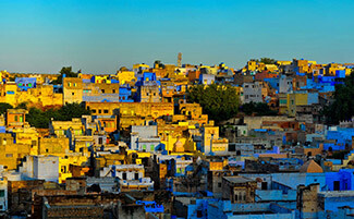 The « blue city » of Jodhpur