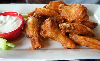 Tasting Buffalo wings in Buffalo, New York