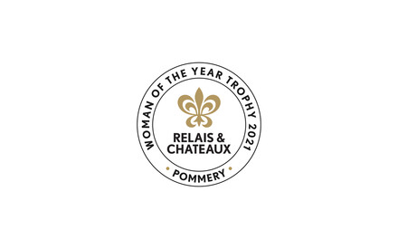 """Relais & Châteaux and Pommery award the """"Woman of the Year 2021"""" trophy to Jihane Khairallah, the Maître de Maison of the Albergo Hotel in Beirut, Lebanon"""