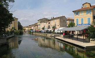 The antique shops of Isle-sur-la-Sorgue
