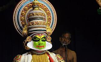 Espectáculo de Kathakali en el Kerala Kathakali Centre