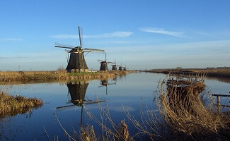 The windmills of Kinderdijk-Elshout