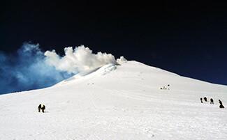 L'ascensione del vulcano Villarrica
