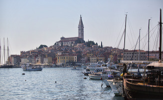The fishing port of Rovinj