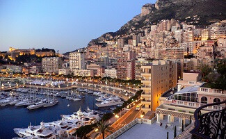 At Monaco harbour
