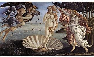 Die Geburt der Venus, Uffizien, Florenz
