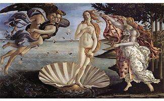 O Nascimento de Vênus, Galeria dos Ofícios, Florença