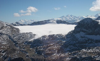 Descubrimiento del glaciar Plaine Morte