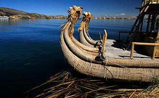 En bateau sur le Titicaca