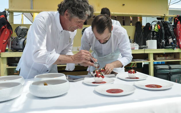 Chef Gérald Passedat honors the Gombessa Expedition