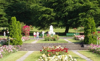 La Grange Park and its rose garden