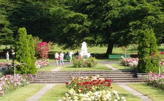 La Grange Park and its rose garden