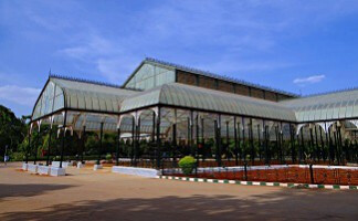 Entdeckung des Gartens von Lal Bagh, Bangalore