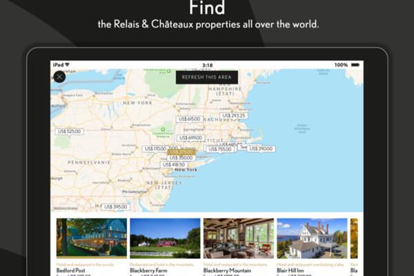 Nouvelle application Relais & Châteaux disponible sur iPhone et iPad