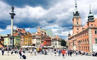 A view of Warsaw