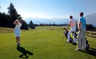 Golf course with a view, Crans-Montana