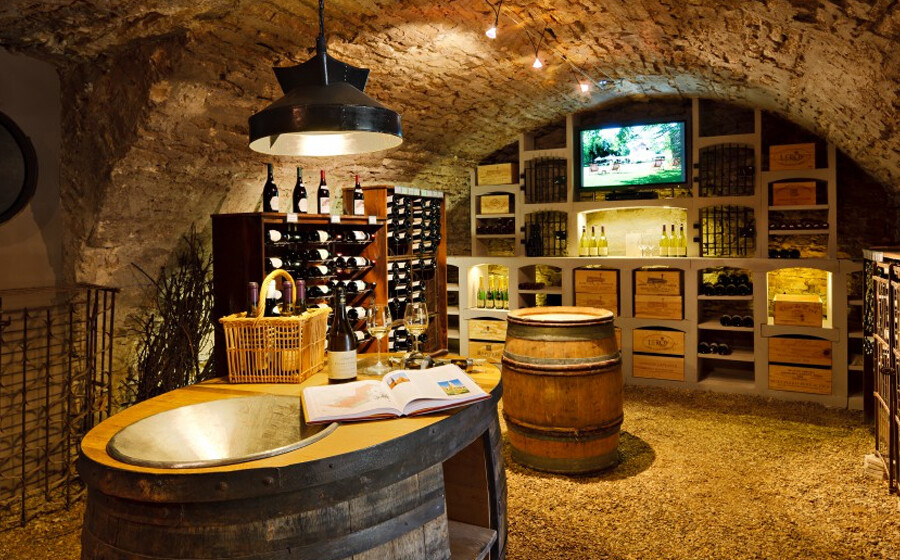 Exquisite wine cellars
