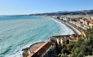 Die Promenade des Anglais in Nizza