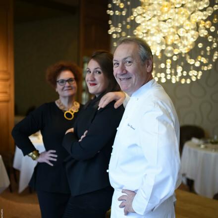Marie-Christine, Hélène et Didier Clément