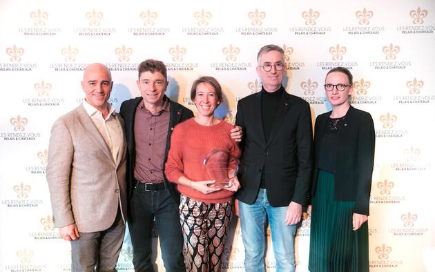 Moët & Chandon Welcome Trophy:  Magali & Jean Sulpice, Hôtel Restaurant Auberge du Père Bise, France