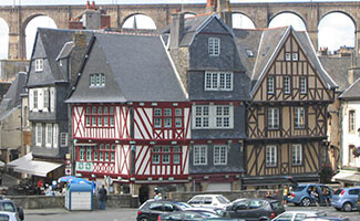 Morlaix and its half-timbered houses