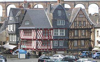 Morlaix e le sue case con pannelli di legno