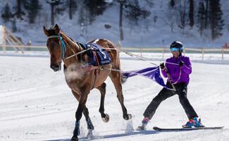 Iniciación en el esquí tirado (La Clusaz)