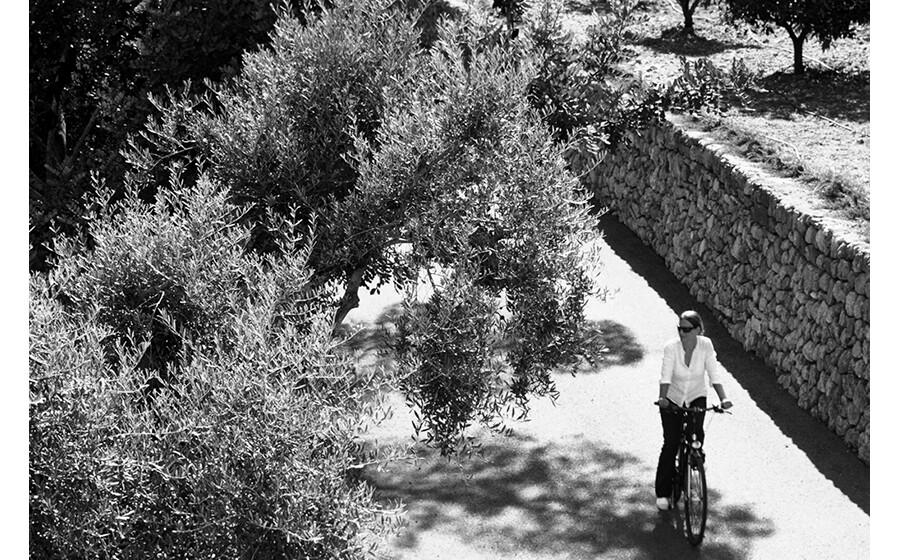De bicicleta
