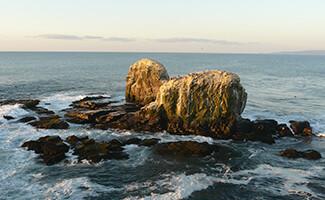 A praia de Punta de Lobos