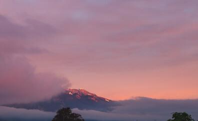 Coucher de soleil sur les cimes de la Silvretta