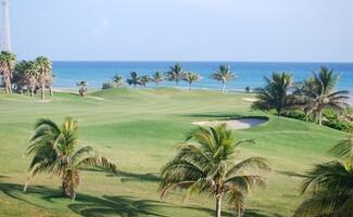 Nach dem Baden... Golfen