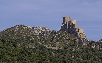 The castles of Aguilar, Quéribus and Puilaurens