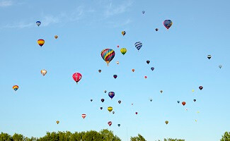 Take to the skies, combine safari and hot air ballooning