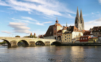The medieval city of Regensburg