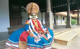 Schminken und Spiel des Kathakali, Kochi