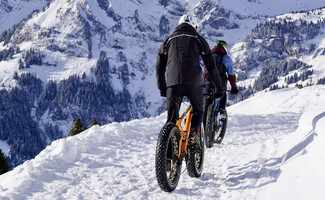 Discover mountain biking on snow with the fatbike (winter)