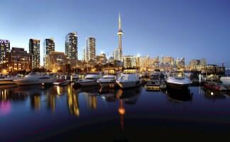 Depuis la CN Tower, vue sur Toronto
