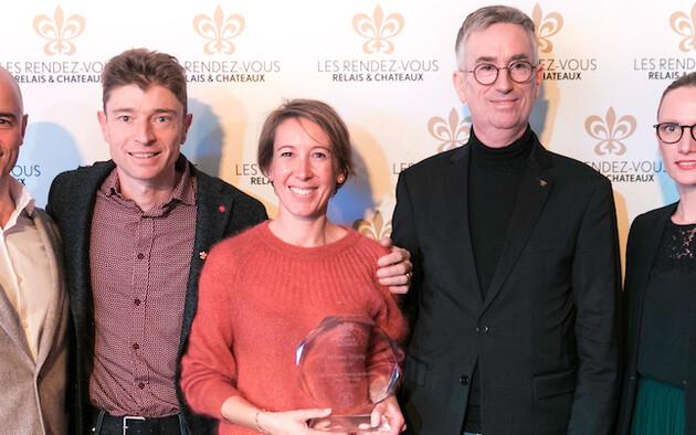 Moët & Chandon Welcome Trophy :  Magali & Jean Sulpice, Hôtel Restaurant Auberge du Père Bise, France