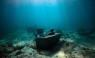 Dive into the underwater sculpture park, Molinière Point