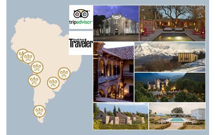 A Condé Nast Traveler e o TripdAvisor recompensam a América do Sul