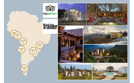 Condé Nast Traveler and TripAdvisor award South America