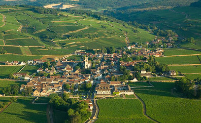 Burgundy seen from the sky