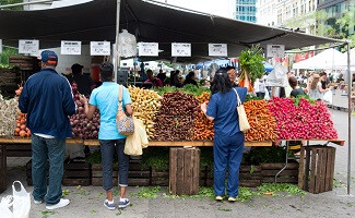The organic market at Union Square Greenmarket